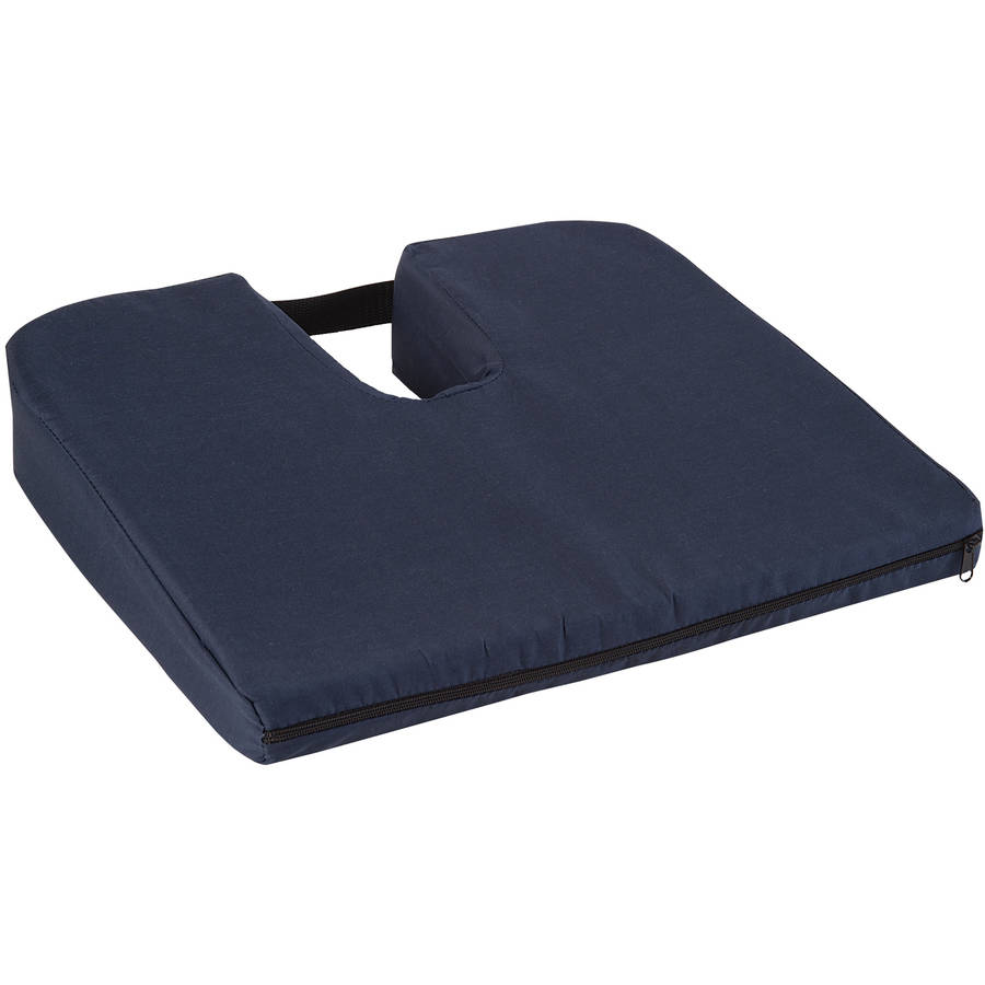 DMI Seat Cushion for Coccyx Support and Better Posture, Foam Chair Cushion for Sciatica and Tailbone Pain Relief, Back Support for Car or Office Chair, Orthopedic Seat Cushion for Drivers, Navy