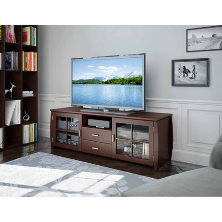 Sonax Washington Wood Veneer TV Stand for TVs up to 59″, Espresso