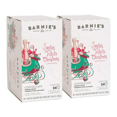 barnies coffee tea santas white christmas single serve k cup pods