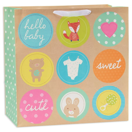 American Greetings Jumbo Baby Iconography Gift Bag - Baby Shower Bags
