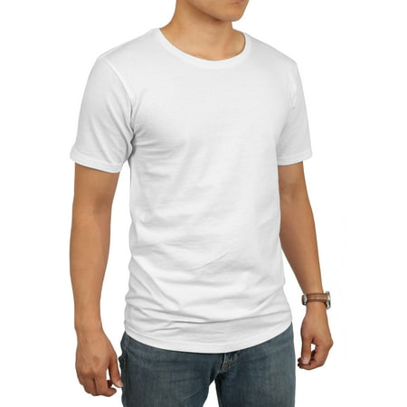 Ks Mens Hipster Longline Basic Tee Casual Big And Tall T Shirt 1Ksb0019