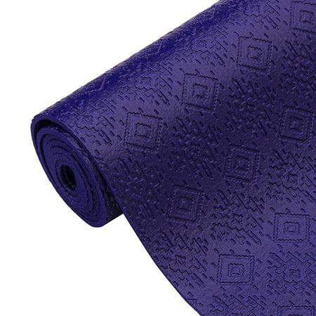Oak And Reed Aztec Textured Yoga Mat Royal 4mm Walmart Com