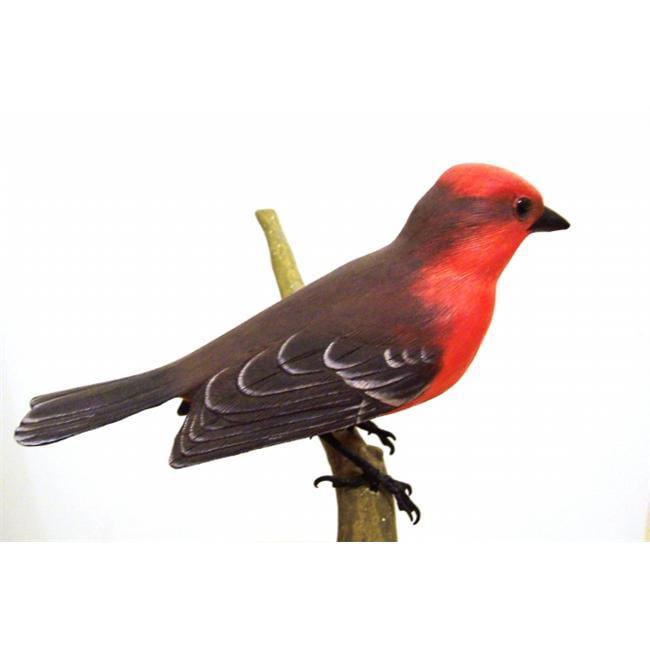 3 Beyond Inc. VFLYC02 VermilionAFlycatcher Wood Bird