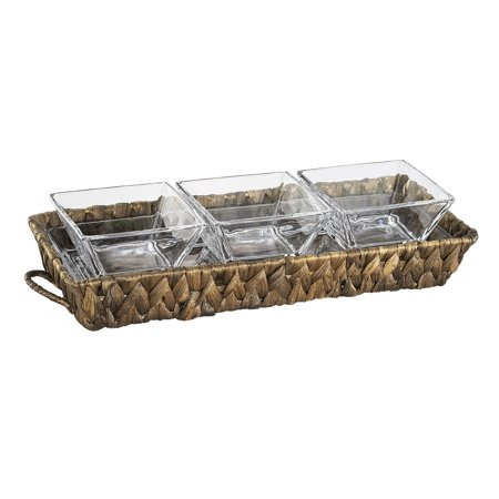 Artland Gt 3-Section Server (1 Glass Tray + 3 Glass Bowls) Gb