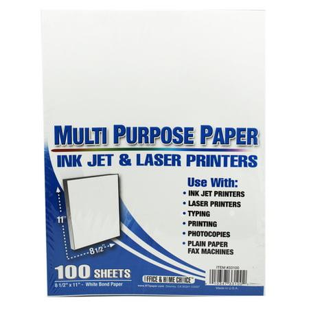 Multi Purpose Ink Jet & Laser Printer Paper (100 Sheets) (Inkjet Printer Paper Tyvek)