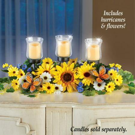 Sunflower Daisy Candle Holder Centerpiece ()