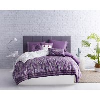 858919b0a666e5 Product Image AWE Boheme Print 2PC Cotton Comforter Set Twin Purple