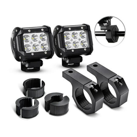 Nilight 2pcs 4 inch 18w spot led light bars off road driving fog nilight 2pcs 4 inch 18w spot led light bars off road driving fog lights with off aloadofball Images