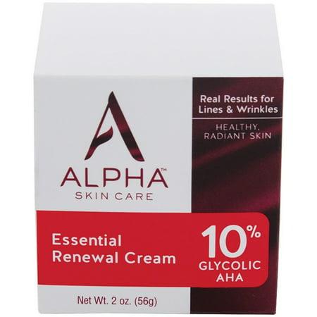 Alpha Hydrox Essential Renewal Cream 10  Glycolic Aha 2 Oz
