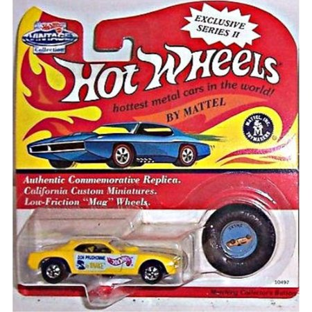 1993 Hot Wheels Exclusive Series II Don Prudhomme Gold Snake Car with Matching Button (Snake Hat)