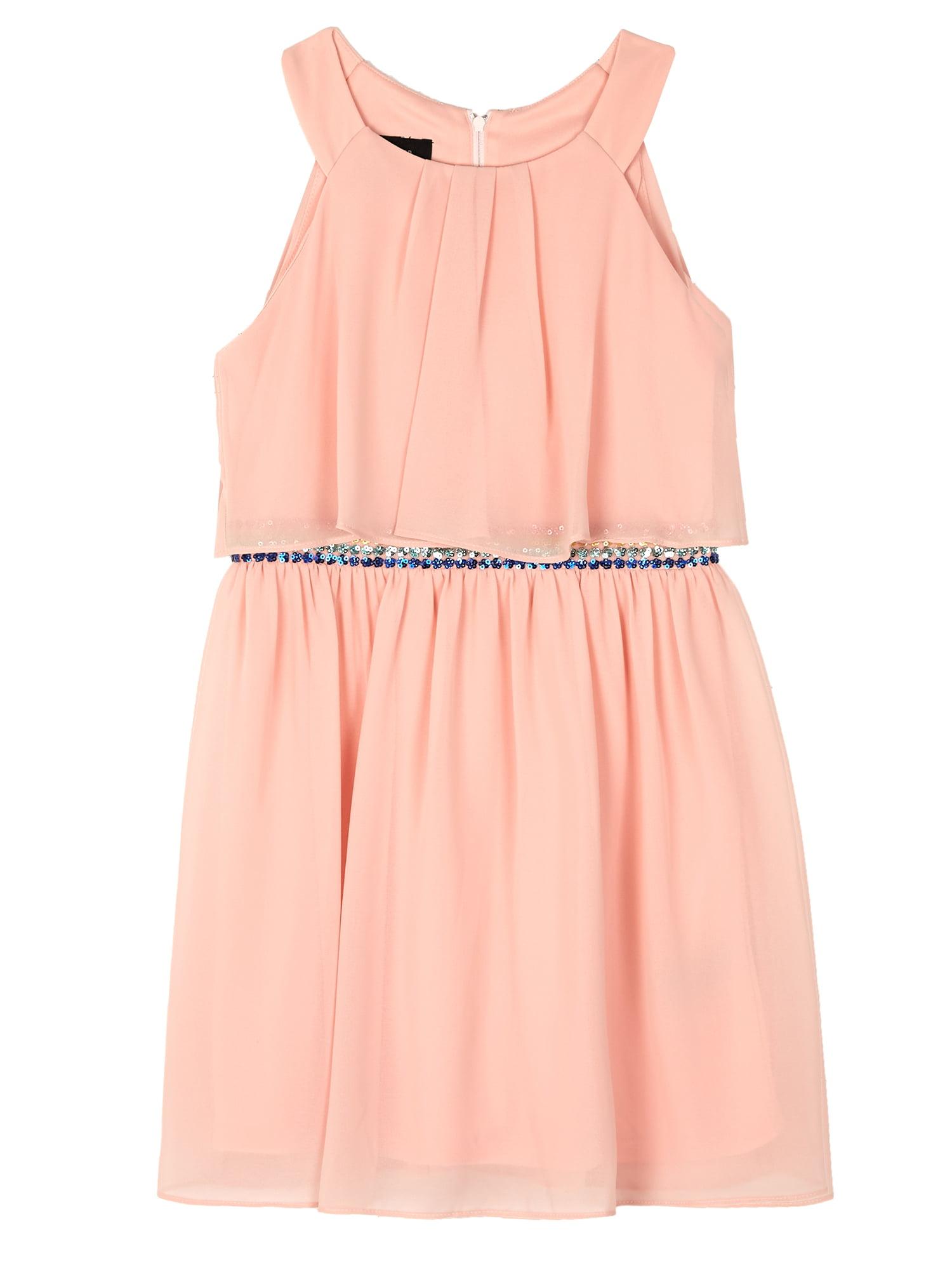 Popover Dress with Applique Waist (Big Girls)