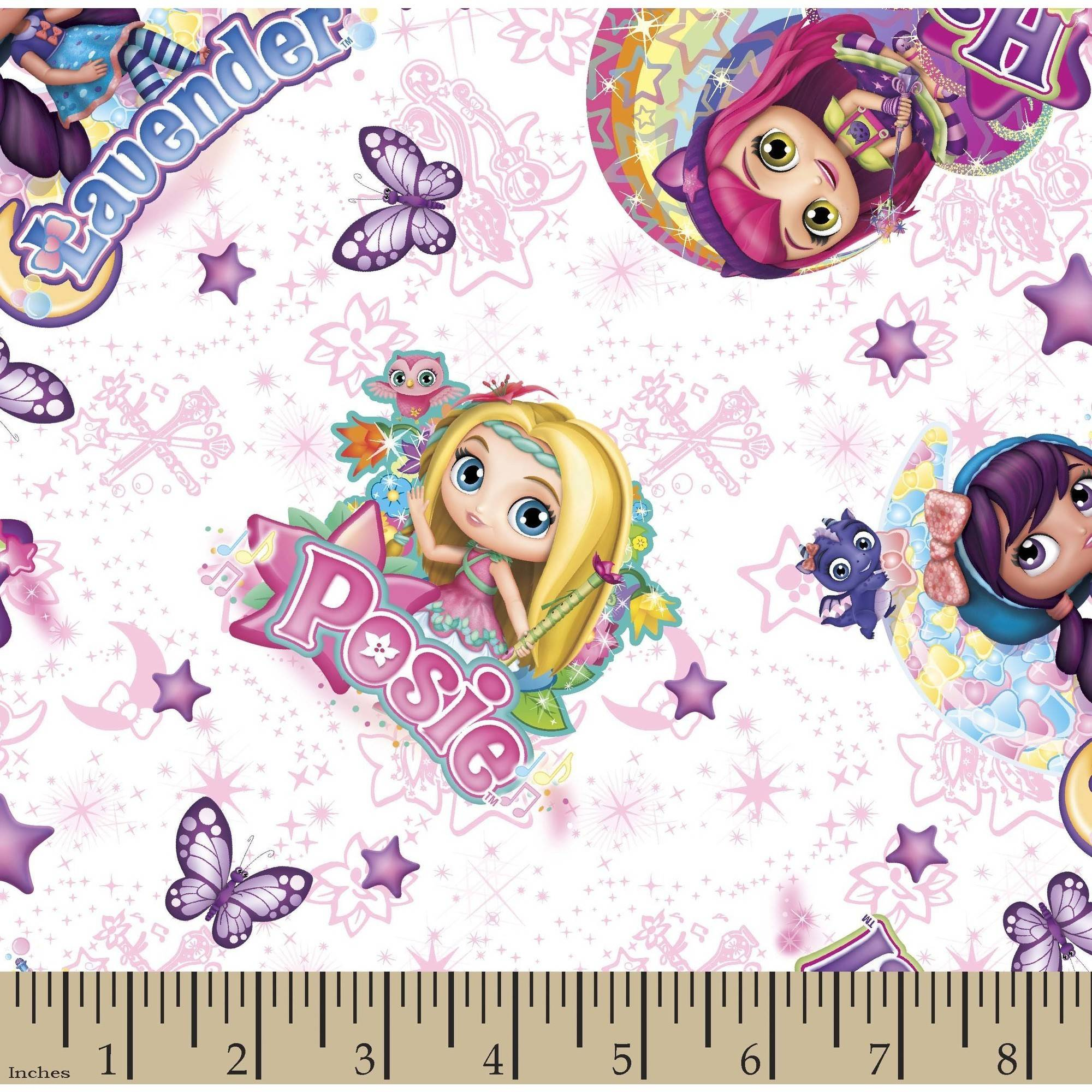 Nelvana Little Charmers Little Charmer Friends 43/44 Fabric by the Yard