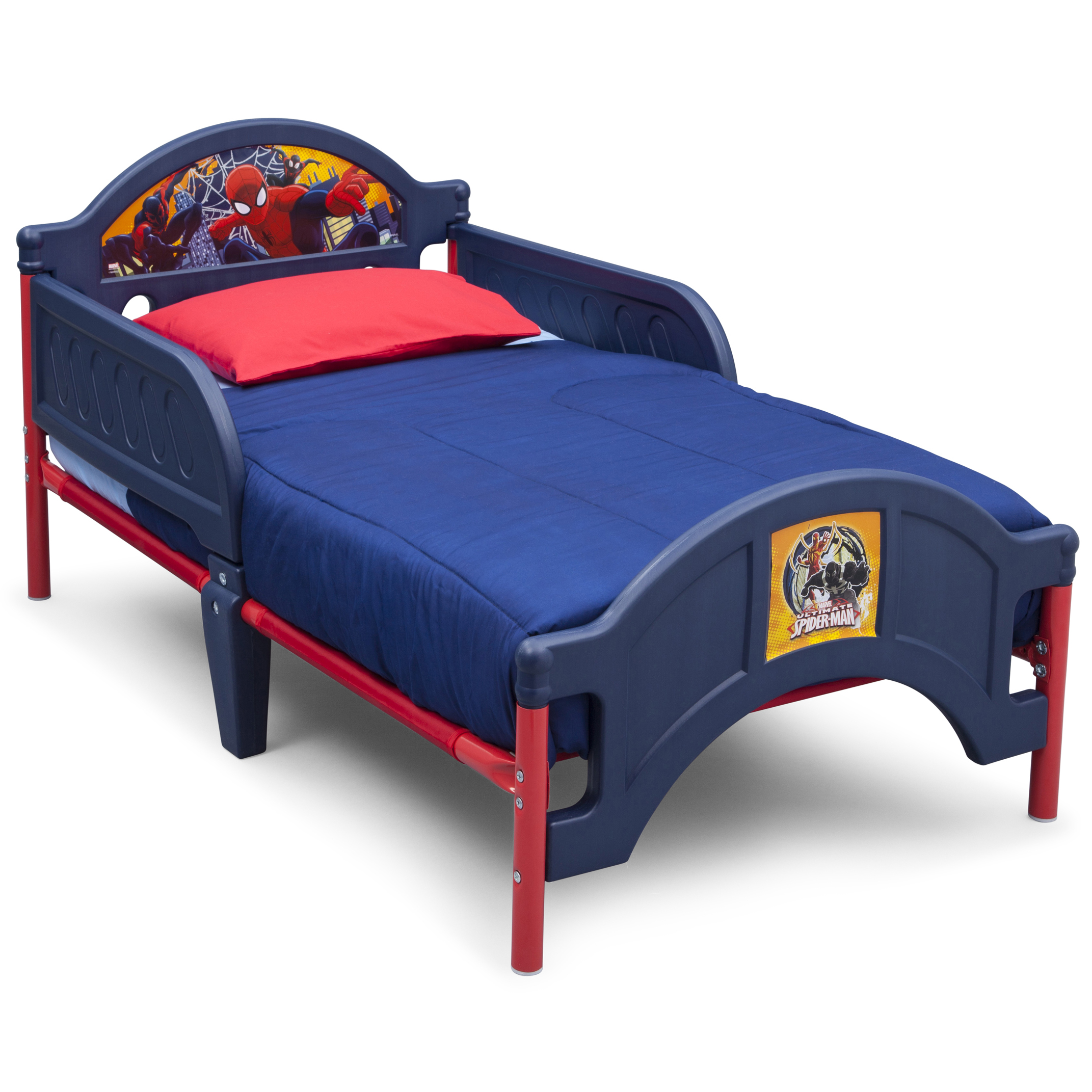 Marvel Spider Man Plastic Toddler Bed By Delta Children