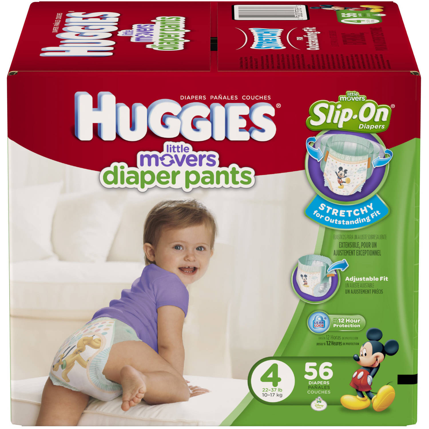 HUGGIES Little Movers Slip-On Diapers, Big Pack (Choose Your Size)