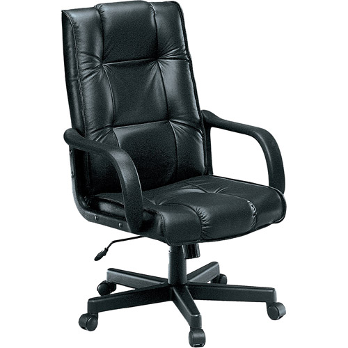 OFM Executive Leather Conference Chair, Black