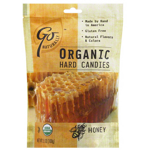 Go Naturally Honey Organic Hard Candies, 3.5 oz (Pack of 6)