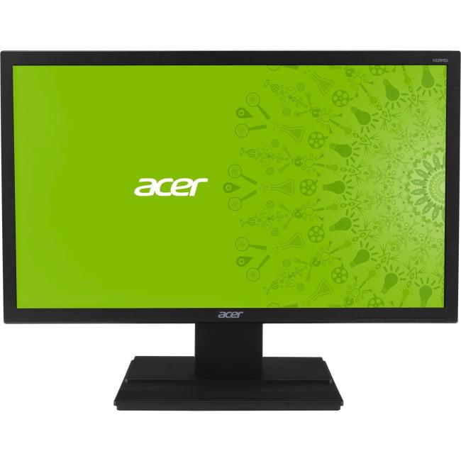 "Acer V226HQL 21.5"" LED LCD Monitor - 16:9 - 5 ms - Adjustable Display Angle - 1920 x 1080 - 16.7 Million Colors - 200 Nit - Full HD - DVI - VGA - 18.10 W - Black - EPEAT Gold, MPR II"