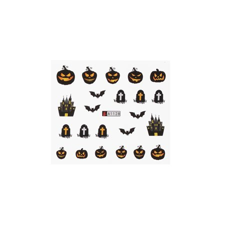 1pc/12sets Nail Manicure Decals Halloween Christmas Stickers Set Nail Art DIY Tools (Manicures Para Halloween)