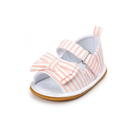 fc492f887e4b Esho - Infant Girls Bow-knot Sandal Soft Sole Cotton Shoes - Walmart.com