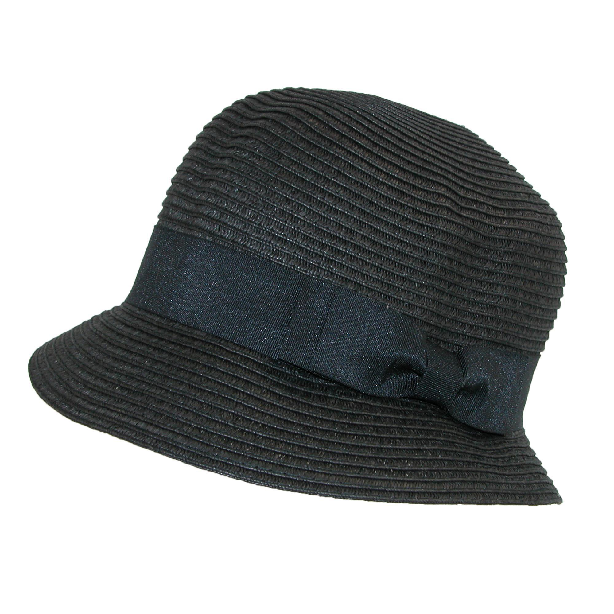 Jeanne Simmons Women s Paper Braided Summer Sun Cloche Hat 9fdd84def87