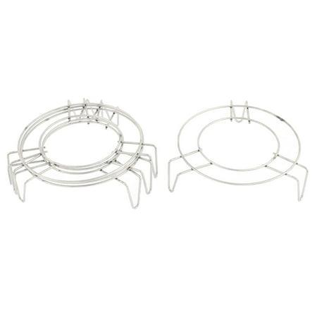 - Stainless Steel 3 Legs Cooker Food Steamer Rack 12 x 3.5cm 4PCS