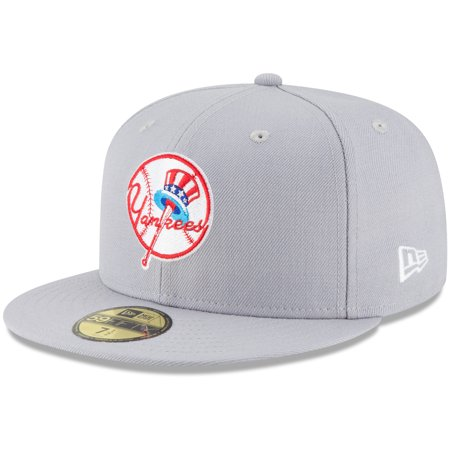 New York Yankees New Era Cooperstown Collection Wool 59FIFTY Fitted Hat - Gray