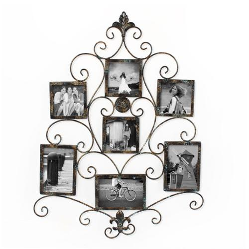 Adeco 7-opening Metal Photo Picture Collage Frame