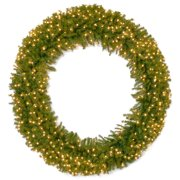 Pre-Lit Norwood Fir Artificial Christmas Wreath - 72-Inch, Clear Lights