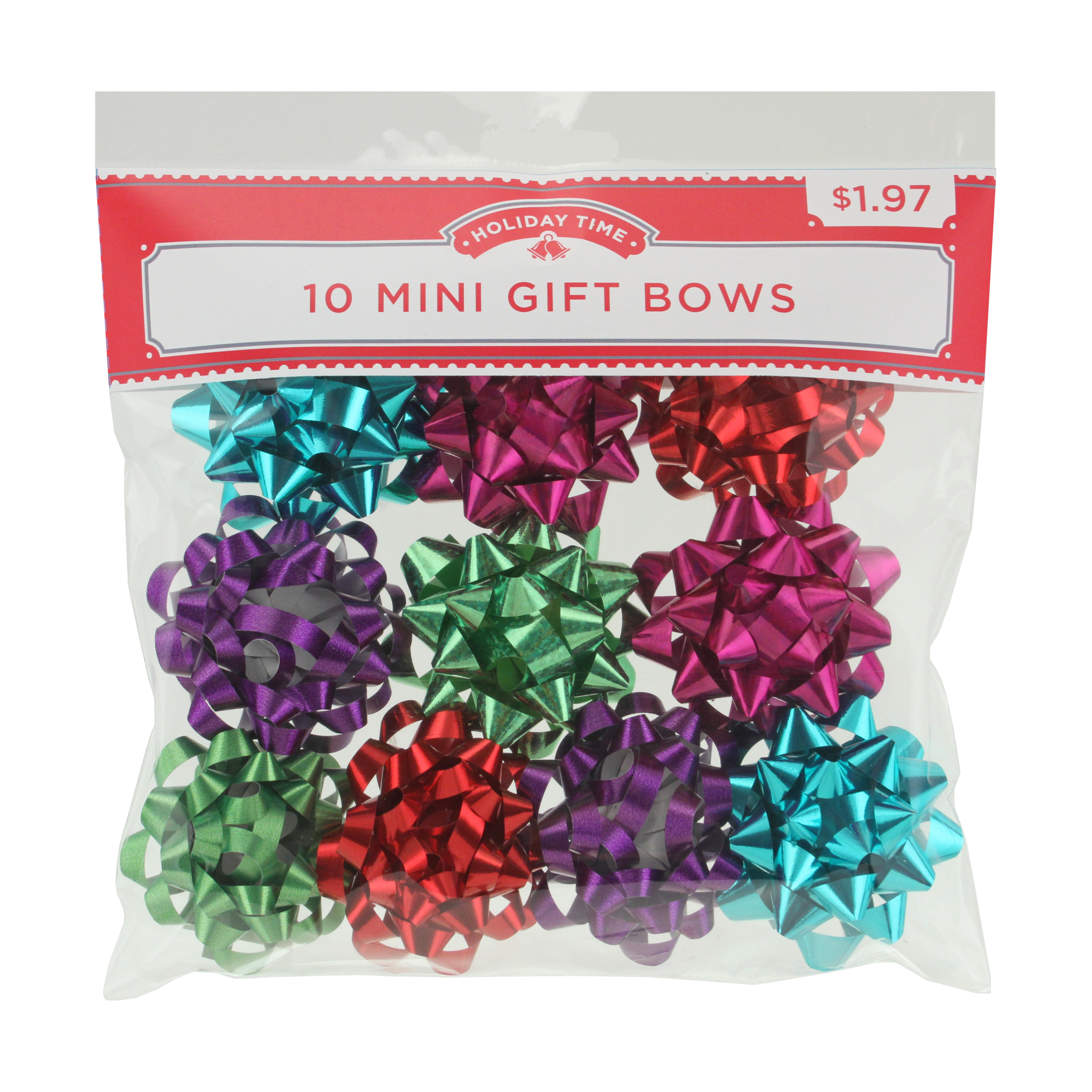 10 COUNT GIFT BOW ASSORTMENT - BRIGHTS