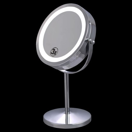 Costway 7 Double-Sided Makeup Mirror 18 LED Lights 3x Magnification Vanity Beauty - Walmart.com