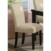 A Line Furniture Kedem Bi-cast Leather Parson Chair (Set of 2)