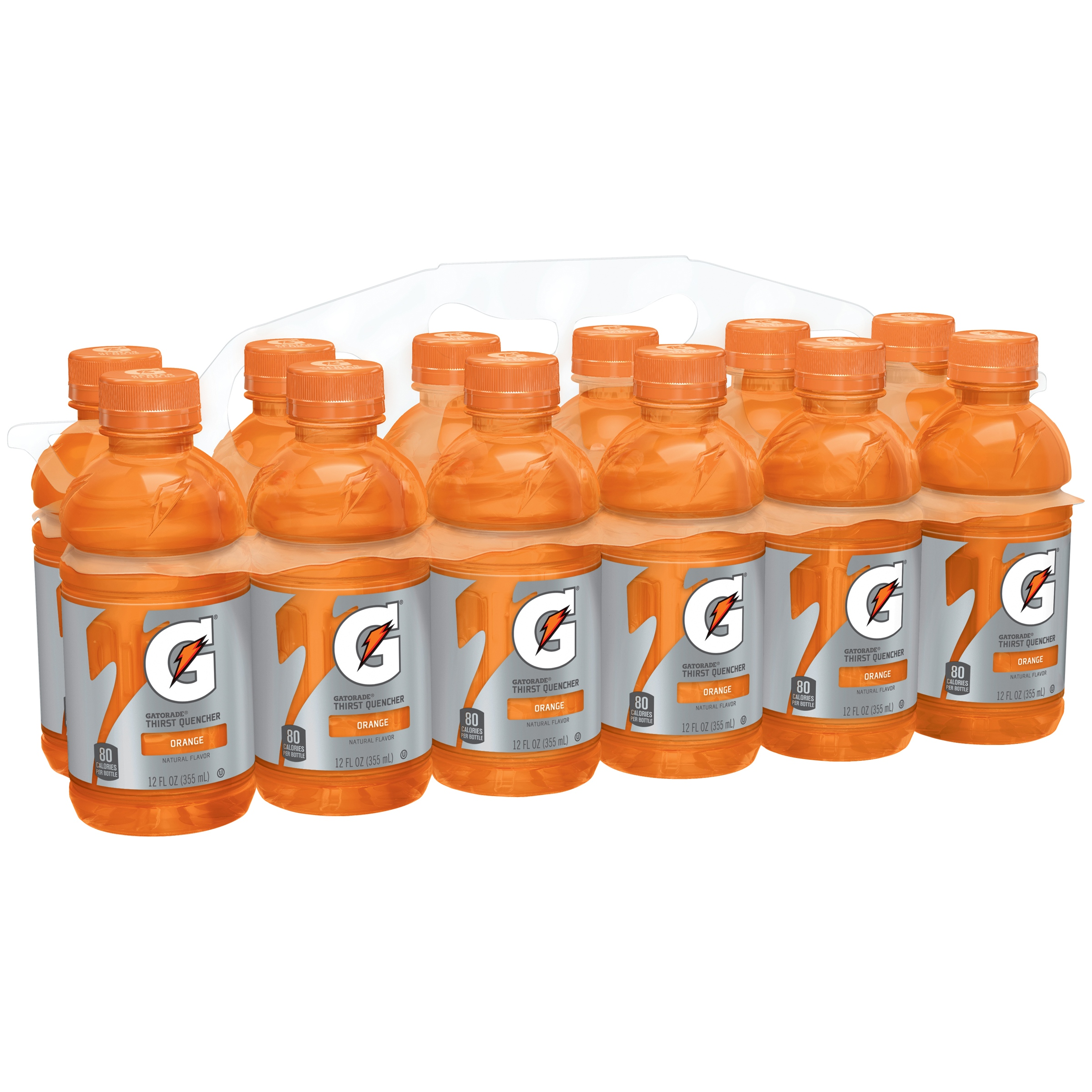 Gatorade Thirst Quencher Fierce Sports Drink, Orange, 12 Fl Oz, 12 Count