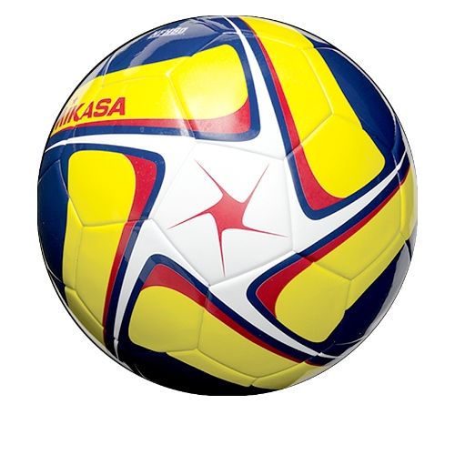 Soccer Ball by Mikasa Sports, SCE Series Size 5 - White/Yellow/Navy