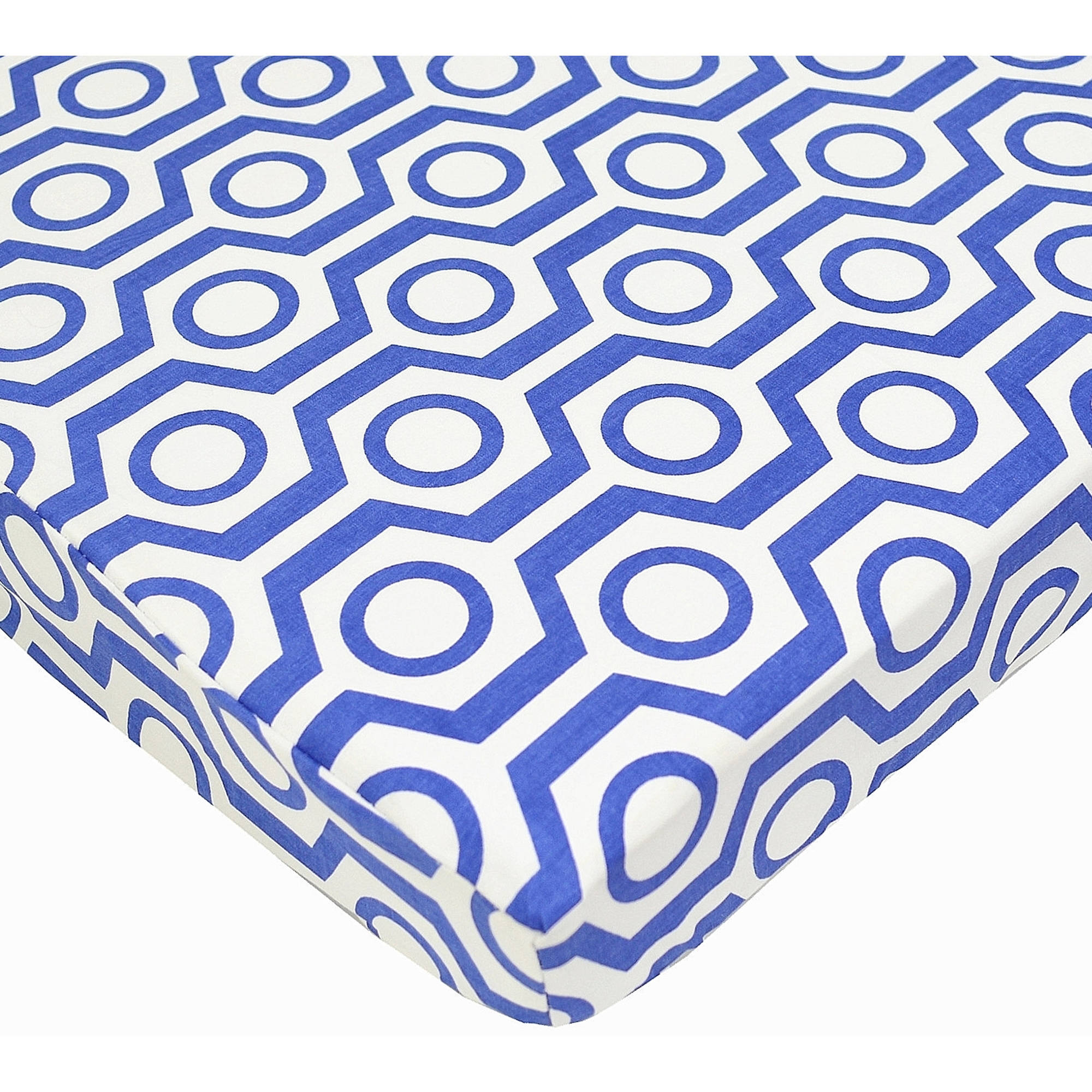 Tl Care Cotton Percale Fitted Mini Crib Sheet Royal