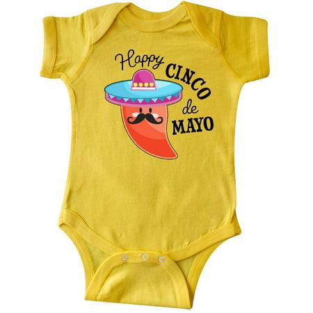 Happy Cinco de Mayo- pepper in a sombrero Infant Creeper
