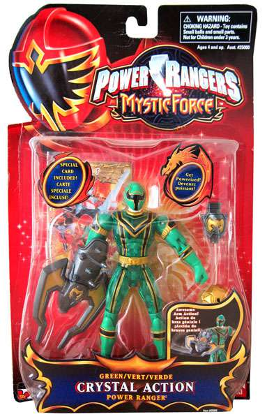 Power Rangers Mystic Force Green Crystal Action Power Ranger Action Figure by
