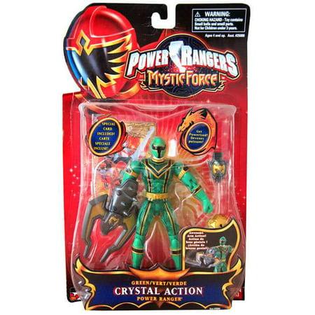 Power Rangers Mystic Force Green Crystal Action Power Ranger Action Figure - Blue Mystic Ranger