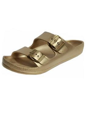 6d538340bad Product Image Women s Lightweight Comfort Soft Slides EVA Adjustable Double  Buckle Flat Sandals (FREE SHIPPING)