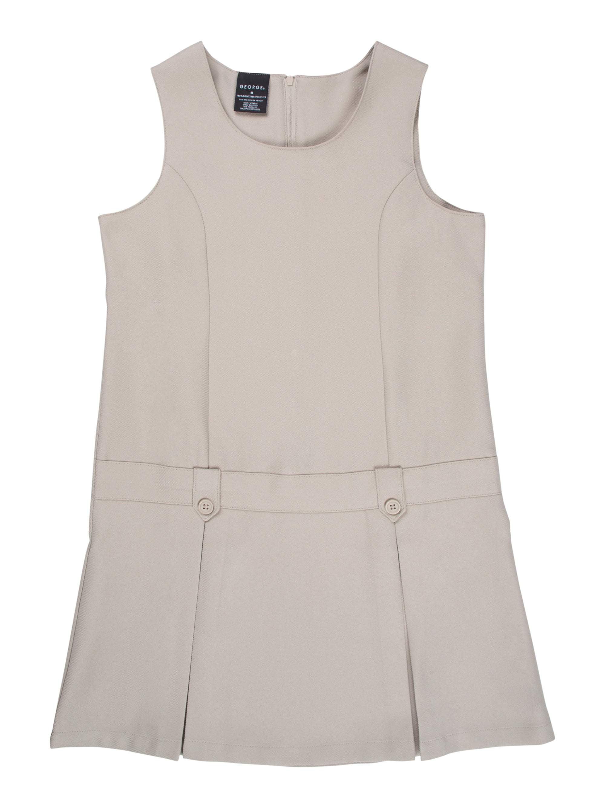 Girls' School Uniform Belted Jumper with Buttoned Belt Loops