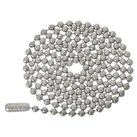 Stainless Steel Ball Chain 30 Inches 3.2mm Heavy Duty Necklace for Pendants and Military Dog Tags](Dog Tag Necklace)