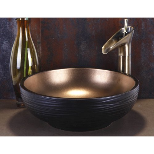 Dawn Usa Ceramic Circular Vessel Bathroom Sink Walmart Com Walmart Com