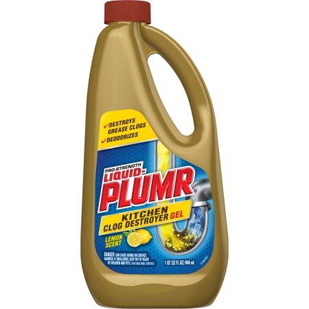 Liquid-Plumr Pro-Strength Kitchen Clog Destroyer Gel - Lemon - 32 - Lemon Scent Liquid