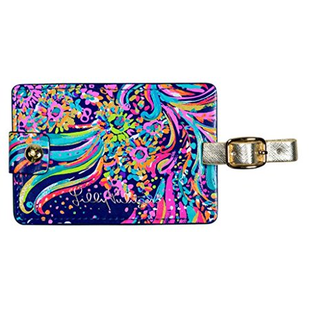 Lilly Pulitzer Girls Luggage Tag, Beach Loot, One Size Jet, set, go! Claim your carry-on with these brightly patterned and gold-accented luggage tags for women by Lilly Pulitzer. Made of a leatherette (faux/PU leather) material, these cute luggage tags will be the perfect addition to all your travel bags. Featured in a bright pattern, these luggage tags are easy to spot and super cute! Perfect to use as airplane travel accessories, kids luggage tags, or durable luggage tags.