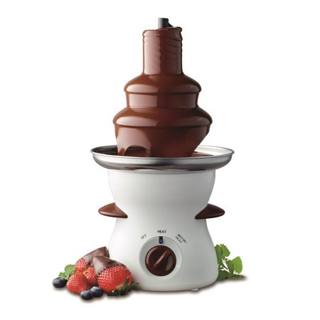 NutriChef PKFNMK16 Three Tier Electric Chocolate Fondue Fountain Stainless Steel and ABS (Chocolate Fountain Recipe)