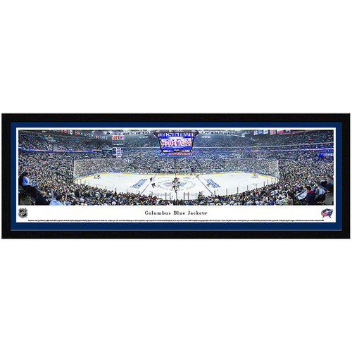"Columbus Blue Jackets 15.5"" x 42"" Select Framed Panoramic - No Size"