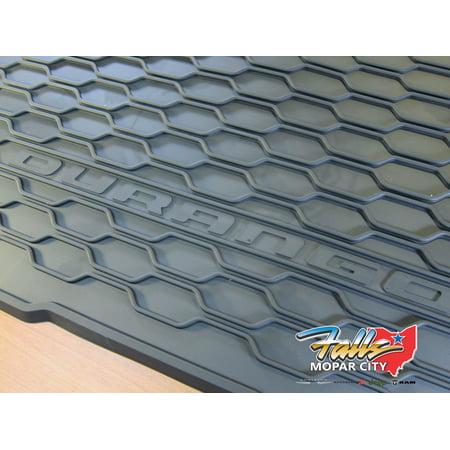 Cargo Area Tray (2011-2019 Dodge Durango Cargo Area Tray All Weather Rubber Slush Mat MOPAR OEM )
