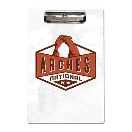 Arch Acrylic Award (Arches National Park - Utah - Lantern Press Artwork (Acrylic Clipboard))
