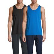 Russell Men's and Big Men's Active Tank Top 2 Pack Bundle, up to size 5XL