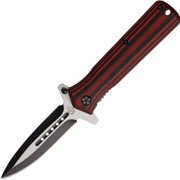 Colt Knives 538 Colt Stilletto Knife with Black Striped Micarta Handles Multi-Colored