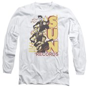Sun Records Tri Elvis Mens Long Sleeve Shirt